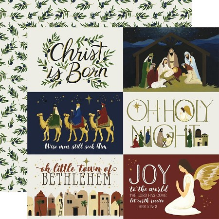"Echo Park - Oh Holy Night Collection - 12""x12"" Cardstock - 4""X6"" Journaling Cards"