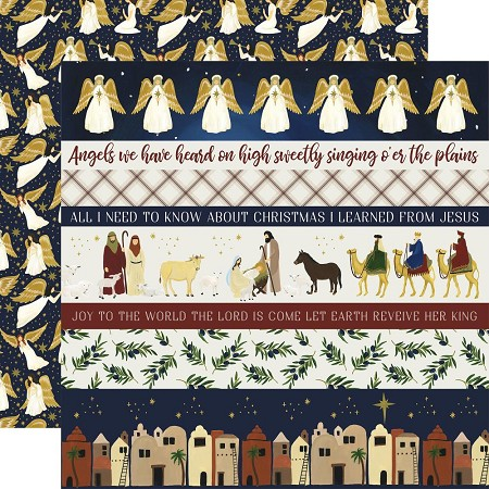 "Echo Park - Oh Holy Night Collection - 12""x12"" Cardstock - Border Strips"