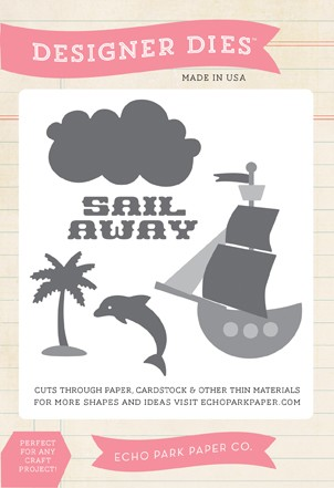 Echo Park - Pirate's Life Collection - Sail Away Designer Die Set