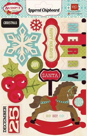 Echo Park-Season's Greetings-Layered Chipboard :)
