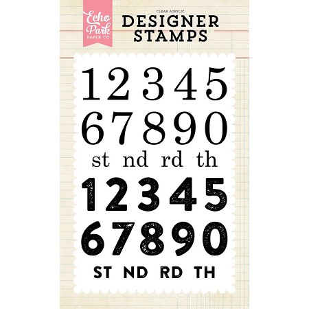 Echo Park - Designer Clear Stamps - Countdown Numbers :)