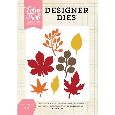 Echo Park - Designer Dies - Autumn Leaves Die Set