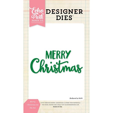 Echo Park - Designer Dies - Merry Christmas #2 Word Die Set