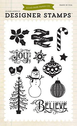 Echo Park - The Story of Christmas Collection - Believe Stamp