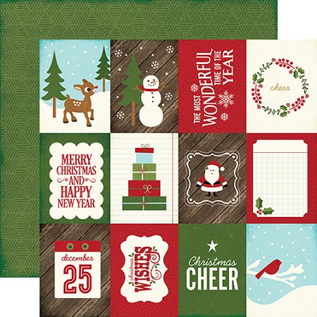 "Echo Park - The Story of Christmas Collection - 12""x12"" Cardstock - 3x4 Journaling Cards"