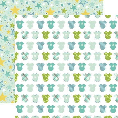 "Echo Park - Sweet Baby Boy Collection - 12""x12"" Cardstock - Boy Oh Boy"