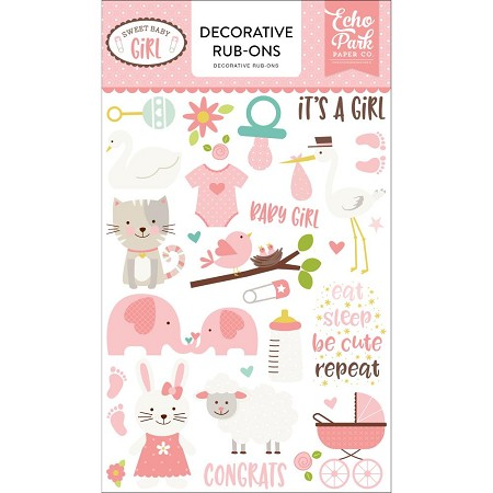 Echo Park - Sweet Baby Girl Collection - Rub Ons