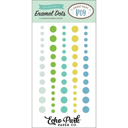Echo Park - Sweet Baby Boy Collection - Enamel Dots