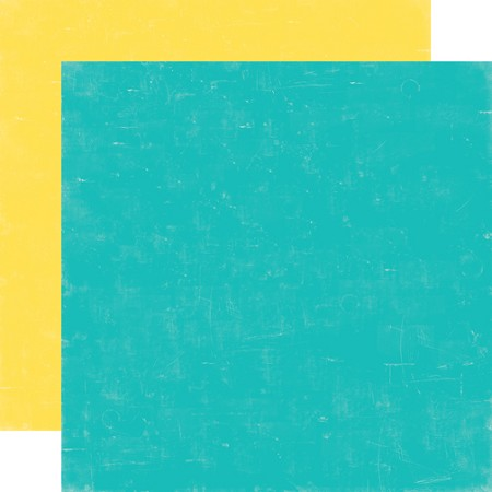 "Echo Park - Sweet Summertime Collection - 12""x12"" Cardstock - Blue / Yellow"