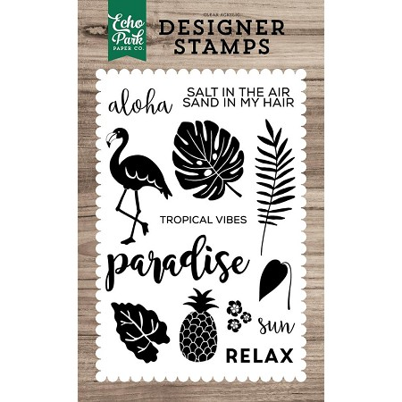 Echo Park - Desinger Clear Stamps - Tropical Vibes