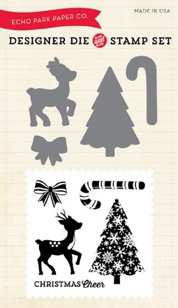 Echo Park - Christmas Cheer Collection - Christmas Cheer Stamp & Die Set