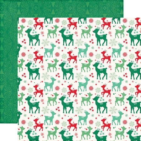 "Echo Park - Christmas Cheer Collection - 12""x12"" Cardstock - Rudolph"