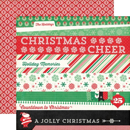 "Echo Park - Christmas Cheer Collection - 12""x12"" Cardstock - Border Strips"