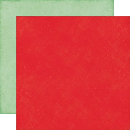 "Echo Park - Christmas Cheer Collection - 12""x12"" Cardstock - Red/Mint"
