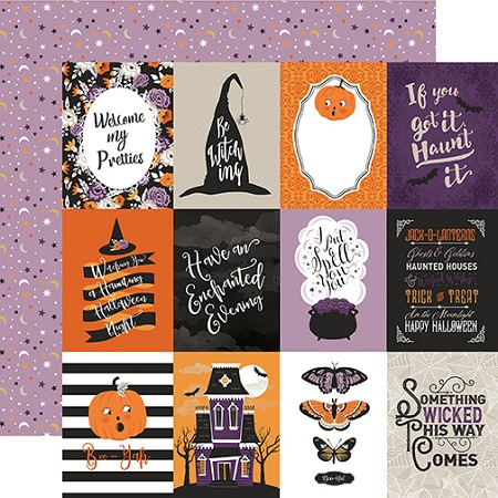 "Echo Park - Bewitched Collection - 3""X4"" Journaling Cards 12""x12"" Cardstock"