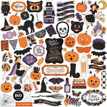 "Echo Park - Bewitched Collection 12""x12"" Elements Sticker Sheet"