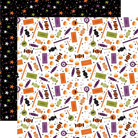 "Echo Park - I Love Halloween Collection - Candy Crash 12""x12"" Cardstock"