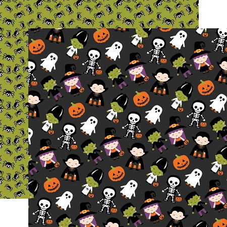 "Echo Park - I Love Halloween Collection - Trick Or Treat 12""x12"" Cardstock"