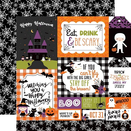 "Echo Park - I Love Halloween Collection - Multi Journaling Cards 12""x12"" Cardstock"