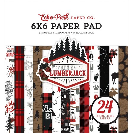 Echo Park - Let's Lumberjack Collection - 6x6 Paper Pad