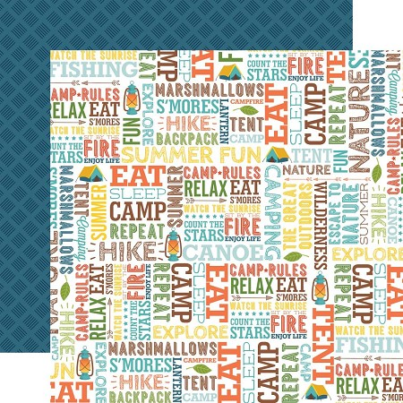 "Echo Park - Summer Adventure Collection - Summer Fun 12""x12"" Cardstock"