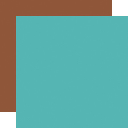 "Echo Park - Summer Adventure Collection - Teal/Brown 12""x12"" Cardstock"