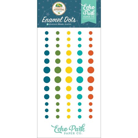 Echo Park - Summer Adventure Collection - Enamel Dots