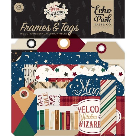 Echo Park - Witches & Wizards Collection - Die Cut Tags & Frames