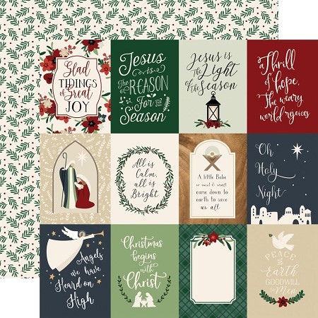"Echo Park - Away In A Manger Collection - 3""X4"" Journaling Cards 12""x12"" Cardstock"