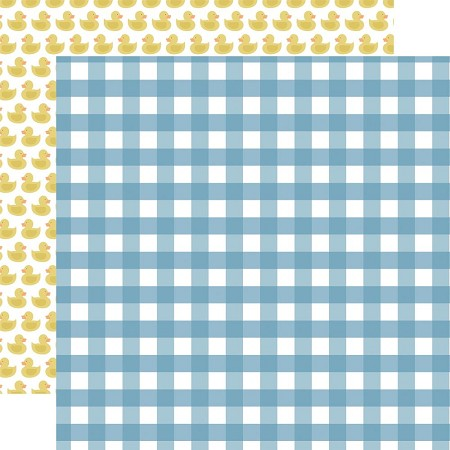 "Echo Park - Baby Boy Collection - Boy Gingham 12""x12"" Cardstock"