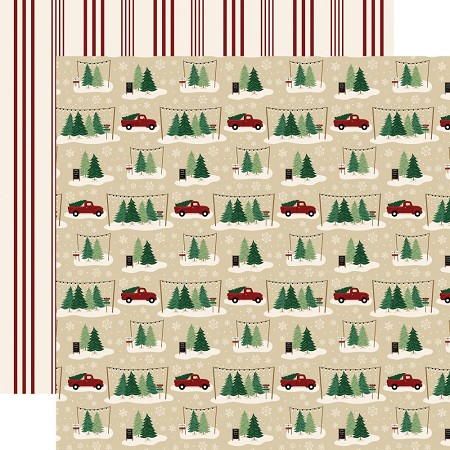 "Echo Park - A Cozy Christmas Collection - Tree Farm 12""x12"" Cardstock"
