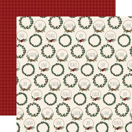 "Echo Park - A Cozy Christmas Collection - Christmas Cheer 12""x12"" Cardstock"