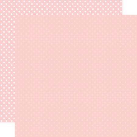"Echo Park - Dots & Stripes - Blush Dots 12""x12"" Cardstock"