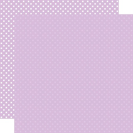 "Echo Park - Dots & Stripes - Light Purple Dots 12""x12"" Cardstock"