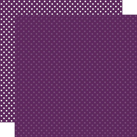 "Echo Park - Dots & Stripes - Purple Dots 12""x12"" Cardstock"