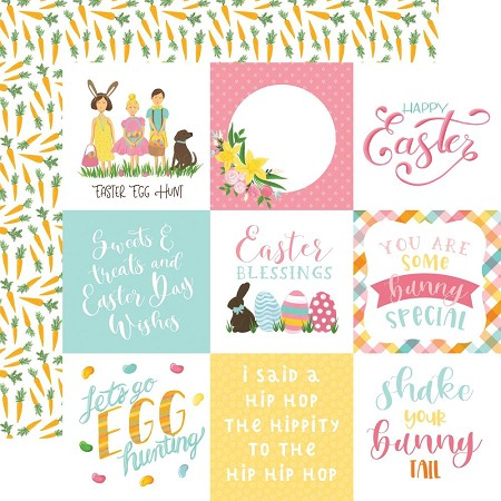 "Echo Park - I Love Easter Collection - 4""X4"" Journaling Cards 12""x12"" Cardstock"