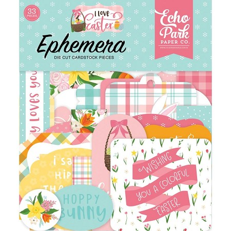 Echo Park - I Love Easter Collection - Die Cut Ephemera