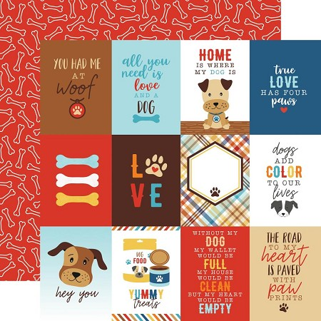 "Echo Park - I Love My Dog Collection - 3""X4"" Journaling Cards 12""x12"" Cardstock"