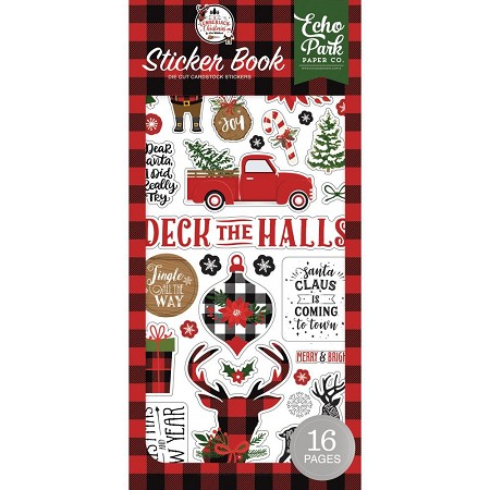 Echo Park - A Lumberjack Christmas Collection - Stickers Book