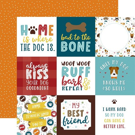 "Echo Park - My Dog Collection - 4""X4"" Journaling Cards 12""x12"" Cardstock"