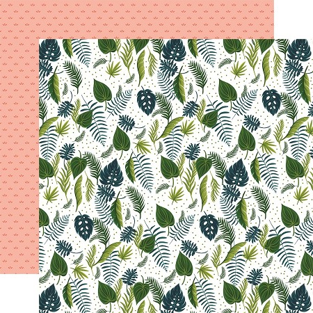 "Echo Park - Plant Lady Collection - Leaves 12""x12"" Cardstock"