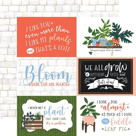 "Echo Park - Plant Lady Collection - 6""X4"" Journaling Cards 12""x12"" Cardstock"