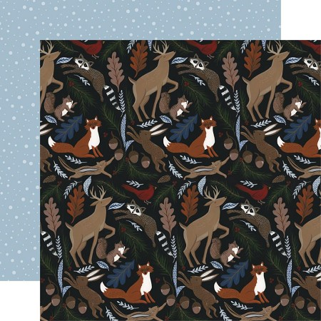 "Echo Park - Warm & Cozy Collection - Cozy Animals 12""x12"" Cardstock"