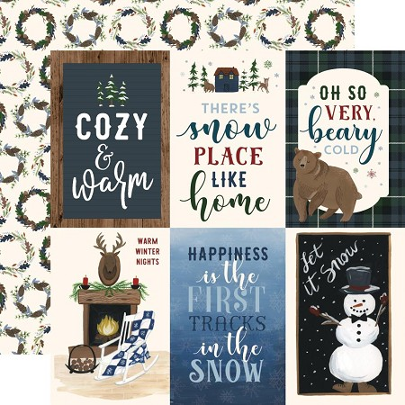 "Echo Park - Warm & Cozy Collection - 4""X6"" Journaling Cards 12""x12"" Cardstock"