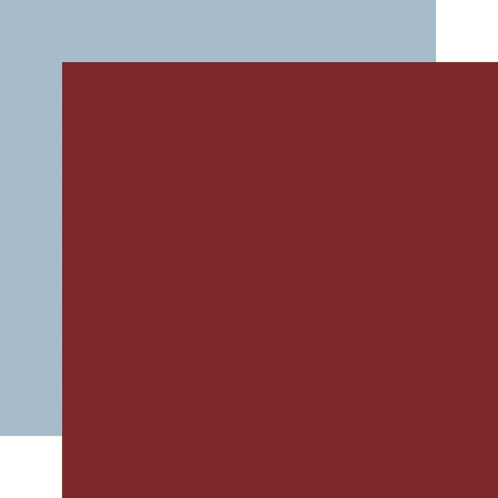 "Echo Park - Warm & Cozy Collection - Red/Light Blue 12""x12"" Cardstock"