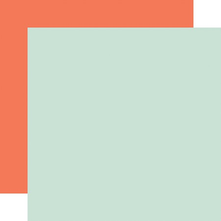 "Echo Park - Welcome Baby Boy Collection - Mint/Orange 12""x12"" Cardstock"