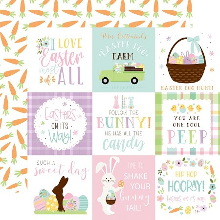 "Echo Park - Welcome Easter Collection - 4""X4"" Journaling Cards 12""x12"" Cardstock"