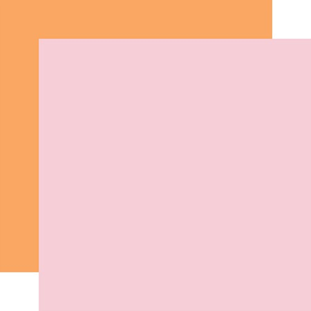 "Echo Park - Welcome Easter Collection - Lt. Pink/Orange - 12""x12"" Cardstock"