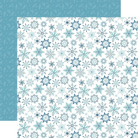 "Echo Park - Winter Magic Collection - Magic Snowflake 12""x12"" Cardstock"