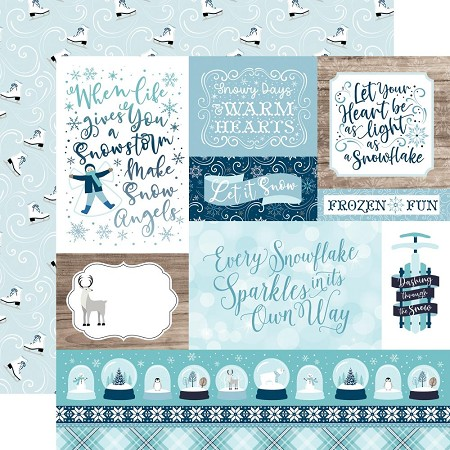 "Echo Park - Winter Magic Collection - Multi Journaling Cards 12""x12"" Cardstock"